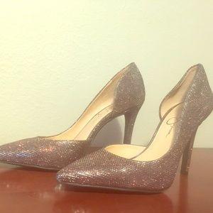 Jessica Simpson Metallic Heels